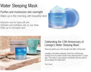 Laneige Sleeping Mask Details