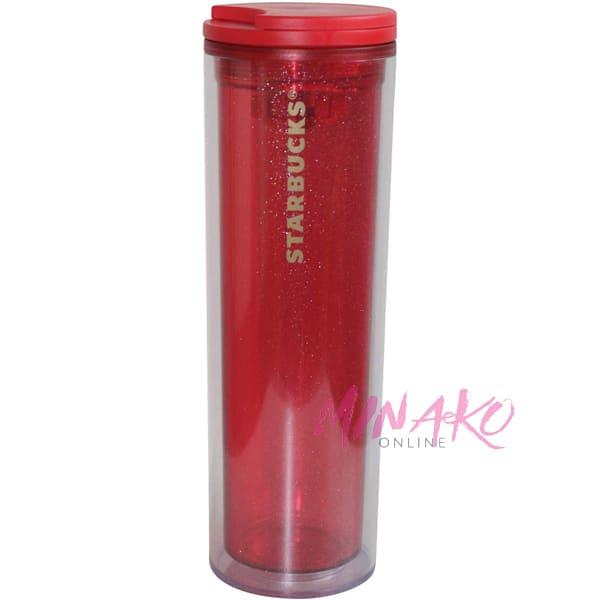 Starbucks Plastic Glitter Red Tumbler