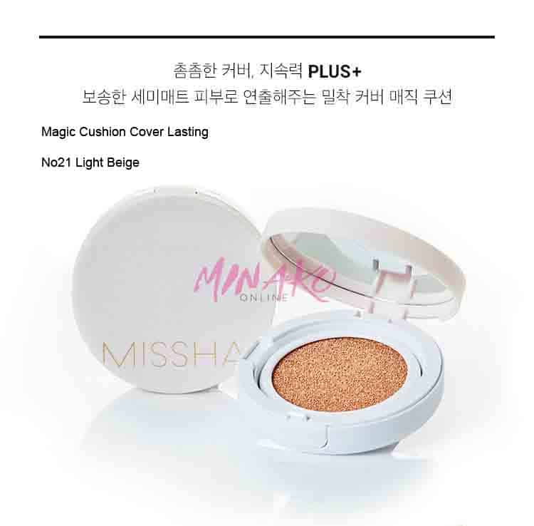 Missha Magic Cushion Cover Lasting Spf50 Pa 21 Light Beige 15g