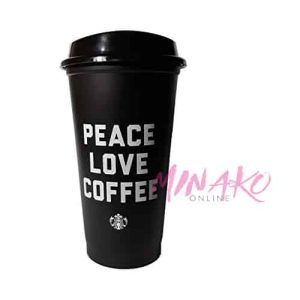 Starbucks Peace Love Coffee Black Reusable Travel Cup