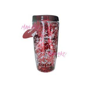 Costa Coffee Glitter Heart Travel Cup (450 ml)