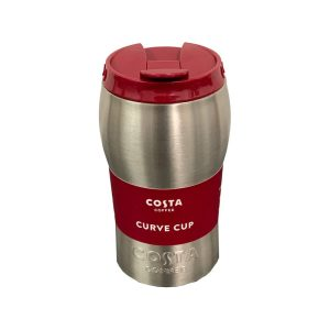 Costa Coffee Curve Double Walled Steel Travel Cup (450 ml)
