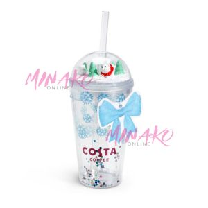 Costa Coffee Snow Globe Glitter Cup (450 ml)