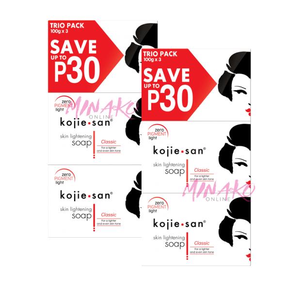 2 x Kojie San Skin Lightening Soap Triple Packs (6 x 100g)
