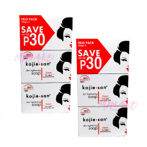 2 x Kojie San Skin Lightening Soap Triple Packs (6 x 100g)