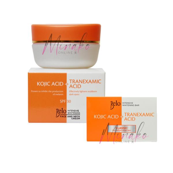 Belo Intensive Whitening Face And Neck Cream SPF30 (50g) & Whitening Soap (65g)